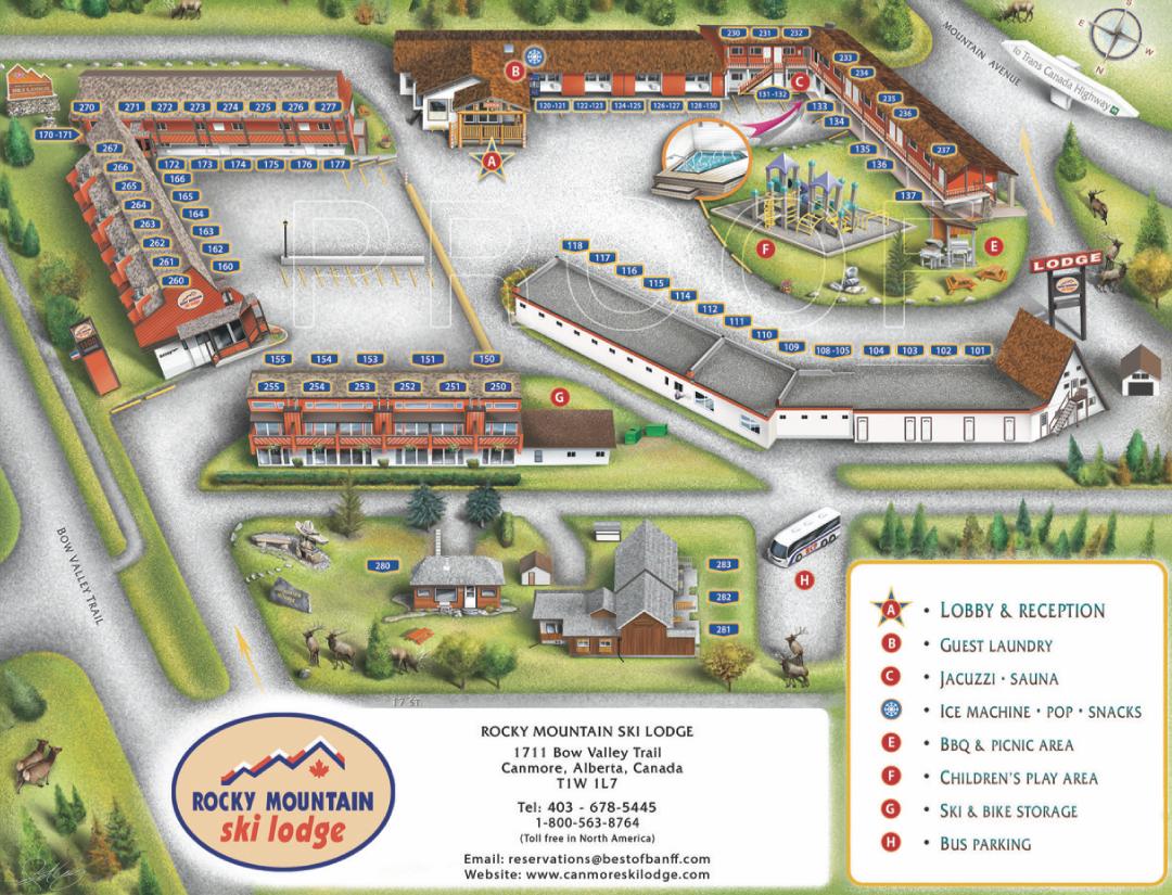 Canmore Ski Lodge Resort Map