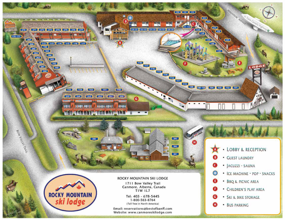 Canmore Ski Lodge Resort Map